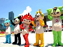 Feng Shui, Olimpiada, cifra 8 şi mascotele FWUA
